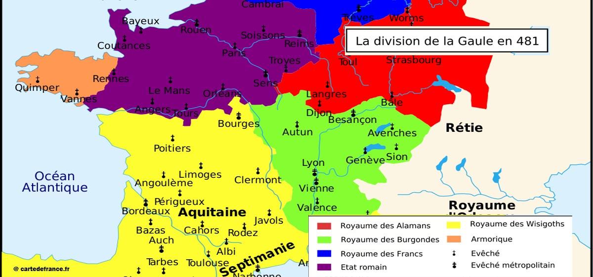 La Gaule en 481