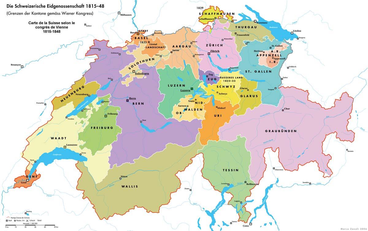 La Suisse en 1815
