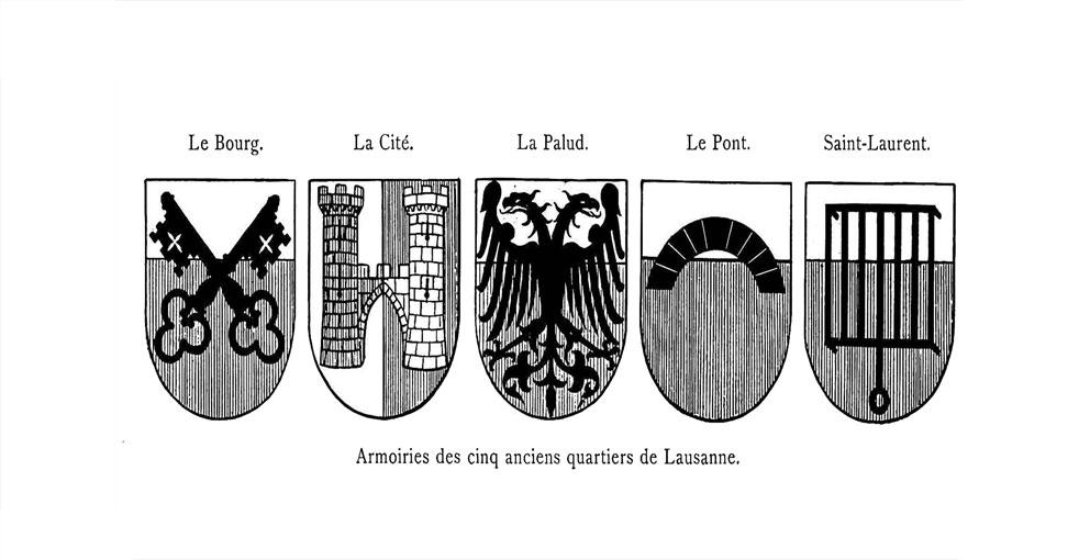Lausanne armoirie squartiers