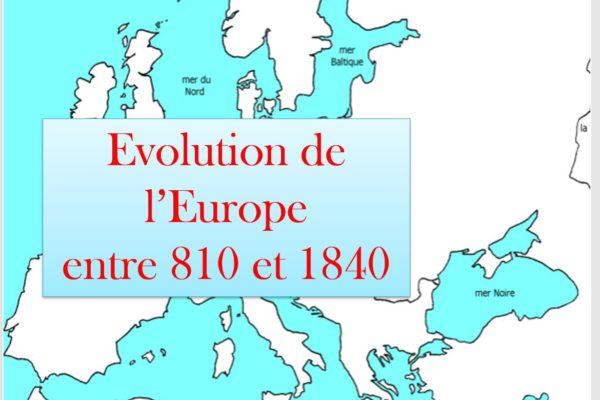 carte europe 810-1840