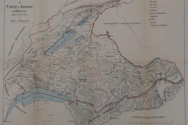 Carte de l'Evéché de Lausanne au 13e
