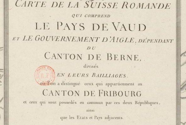 Carte Pays de Vaud 1781 - Mallet